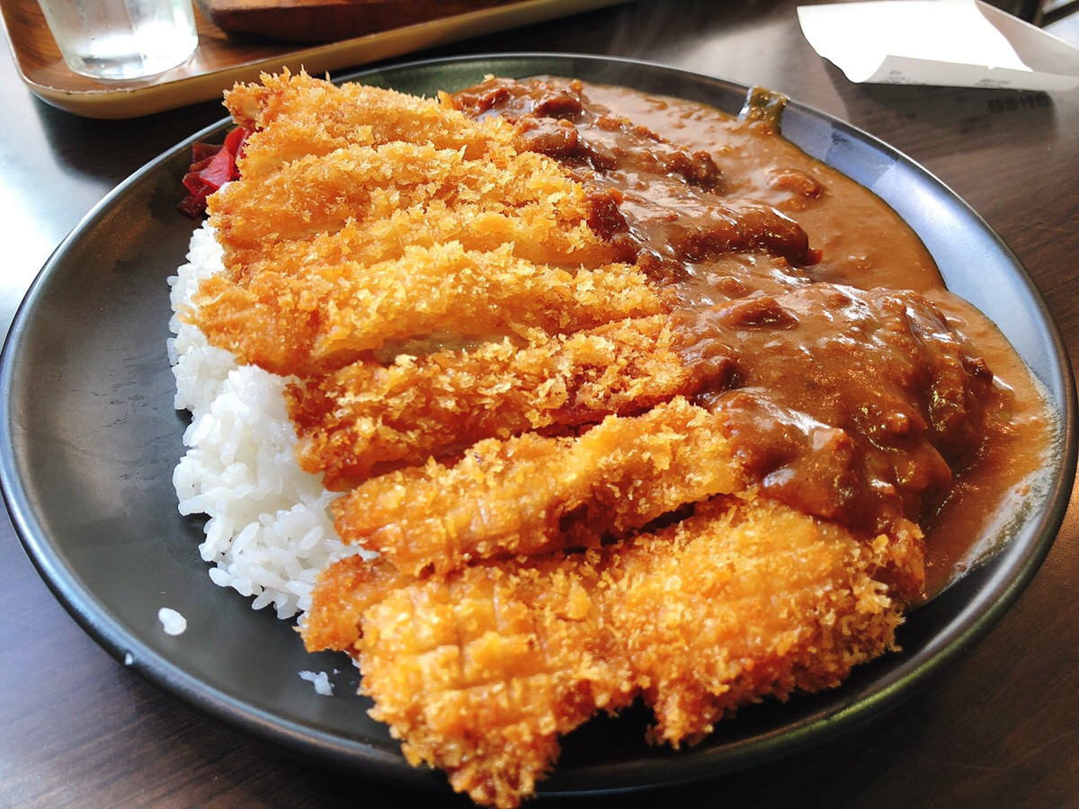Curry topped with Tonkatsu at 919