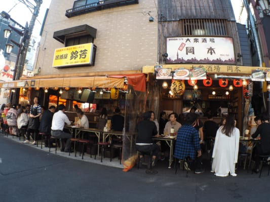 Hoppy street in Asakusa