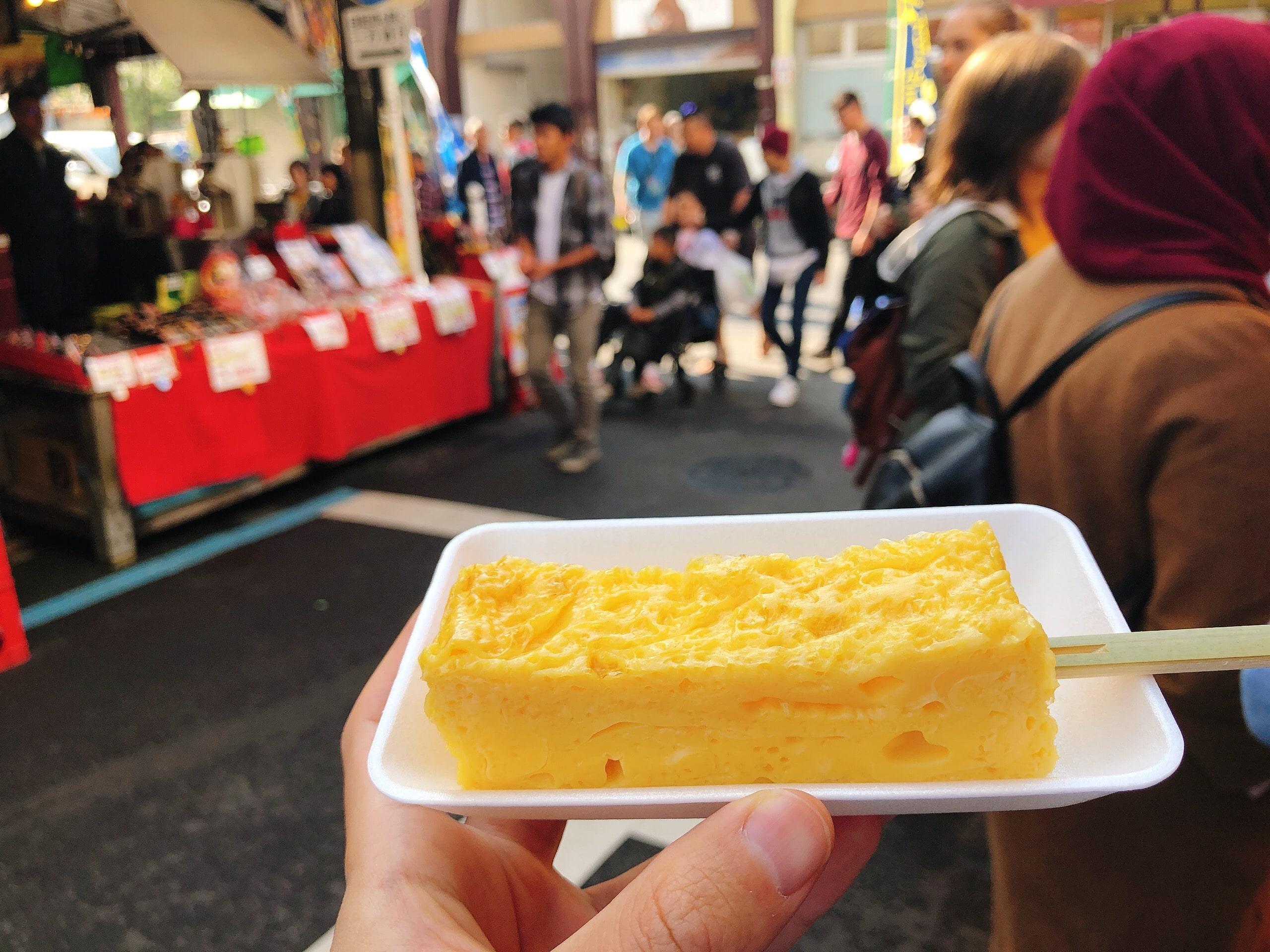 Tamagoyaki at Tsukiji