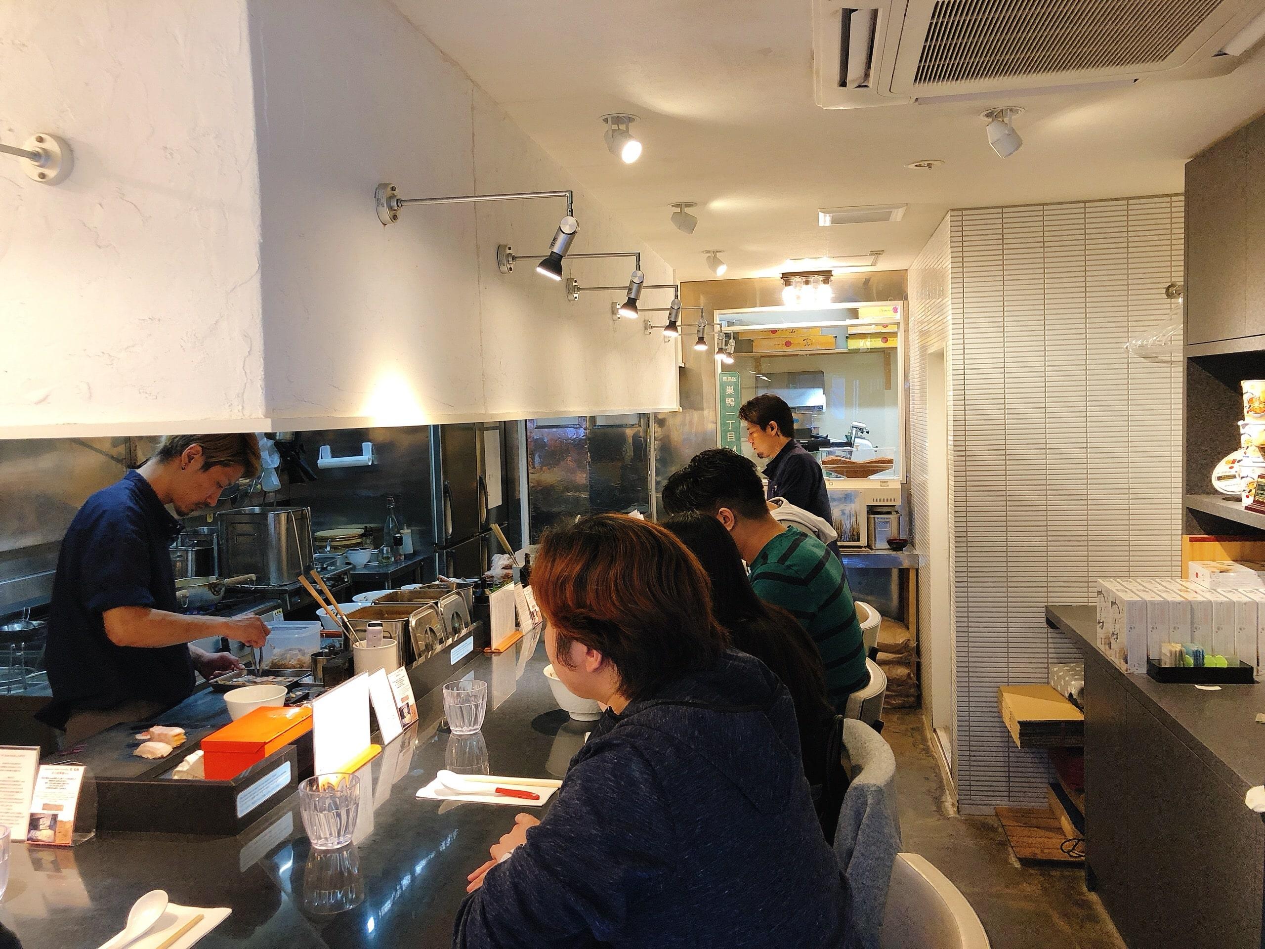 Inside of Japanese Soba Noodles Tsuta