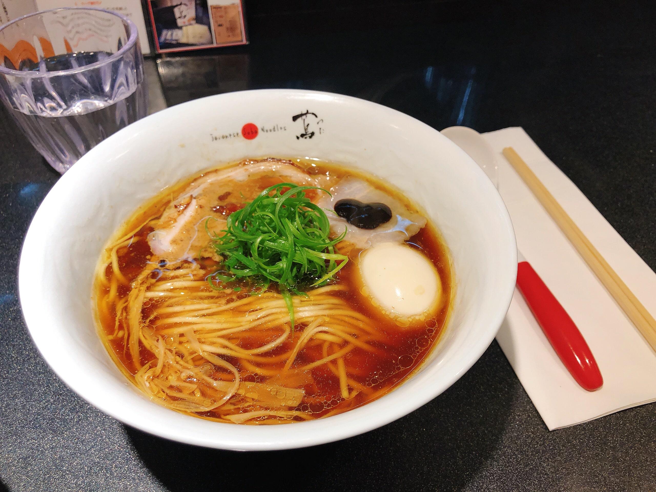 Shoyu (Soy sauce) Ramen at Japanese Soba Noodles Tsuta