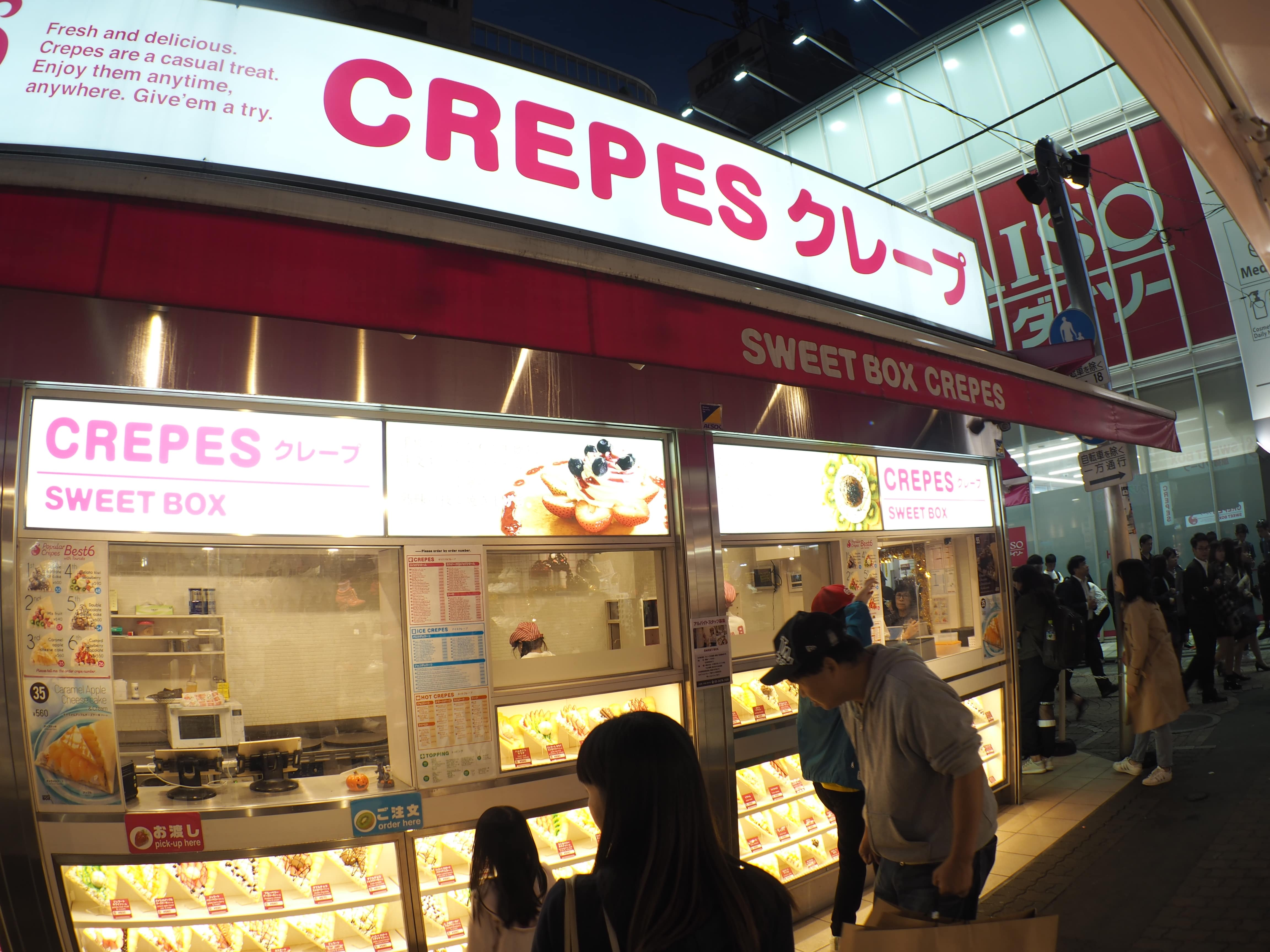 Crepe Shop at Harajuku
