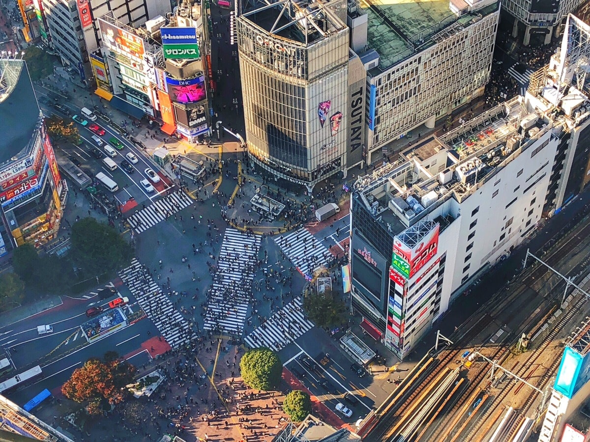Shibuya Crossing from Shibuya Sky
