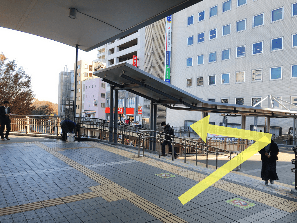 The south exit of Mitaka Station