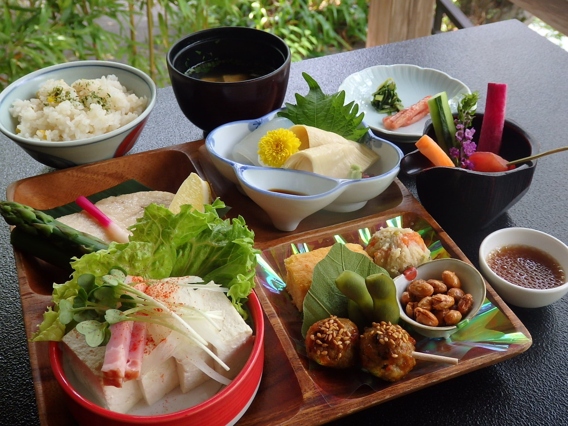 Japanese Traditional Lunch Dishes