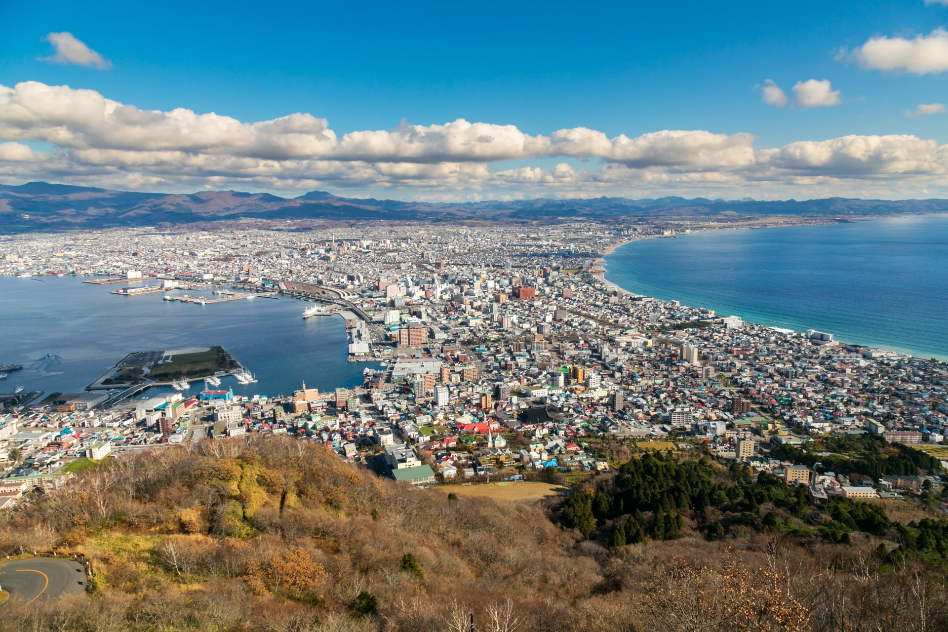 view of hakodate city
