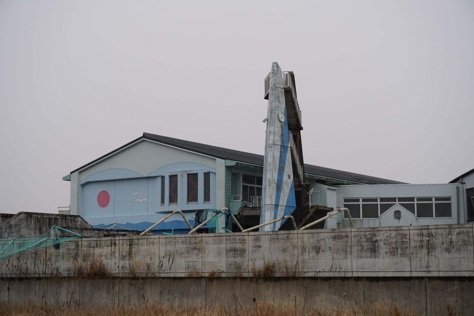 Fukushima building ruins
