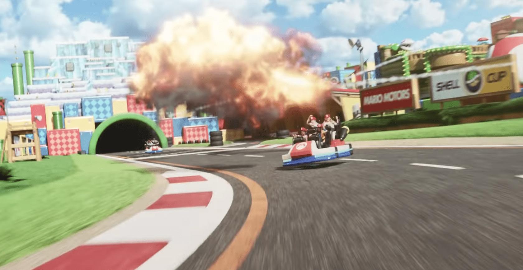 Mario Kart ride attraction at SUPER NINTENDOWORLD