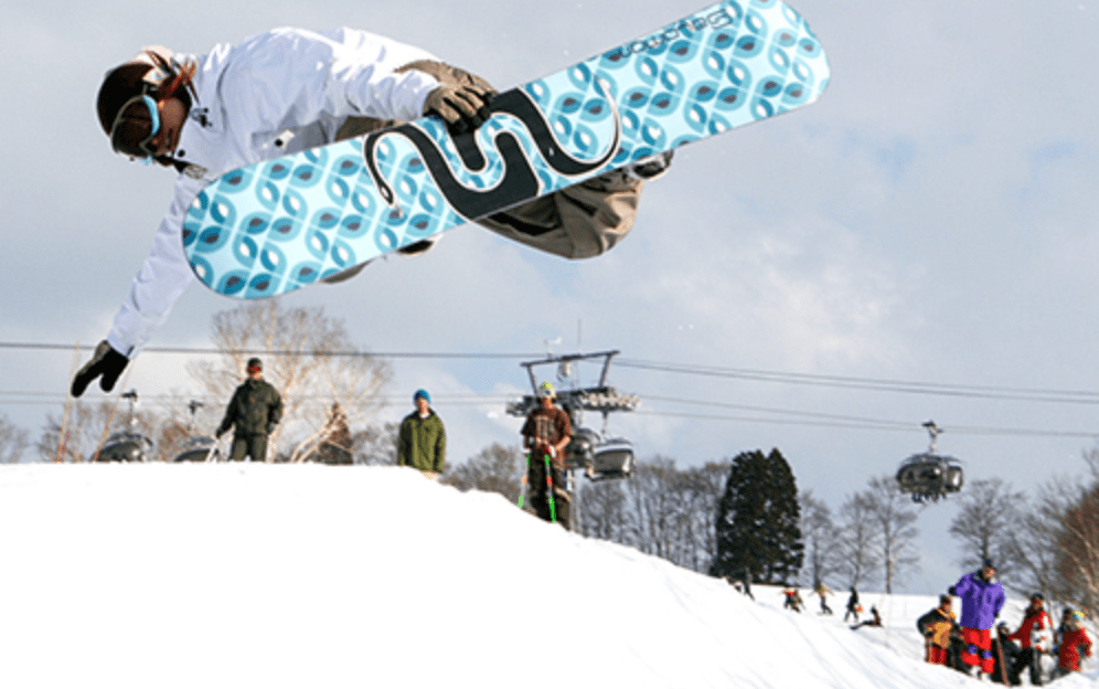 Snowboarder at Nozawa Onsen Snow Resort