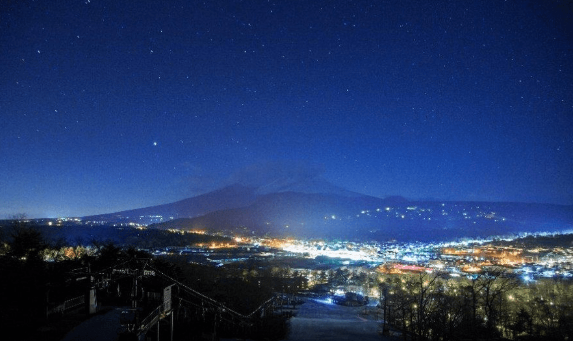 Night views from Karuizawa Princehotel Snow Resort