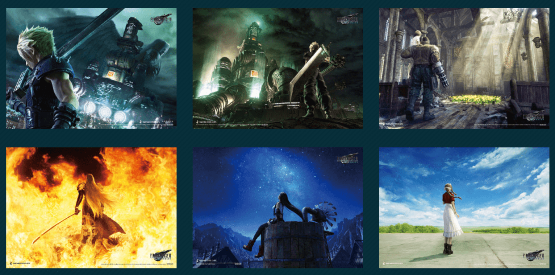 Place mats provided by FINAL FANTASY VII REMAKE Cafe