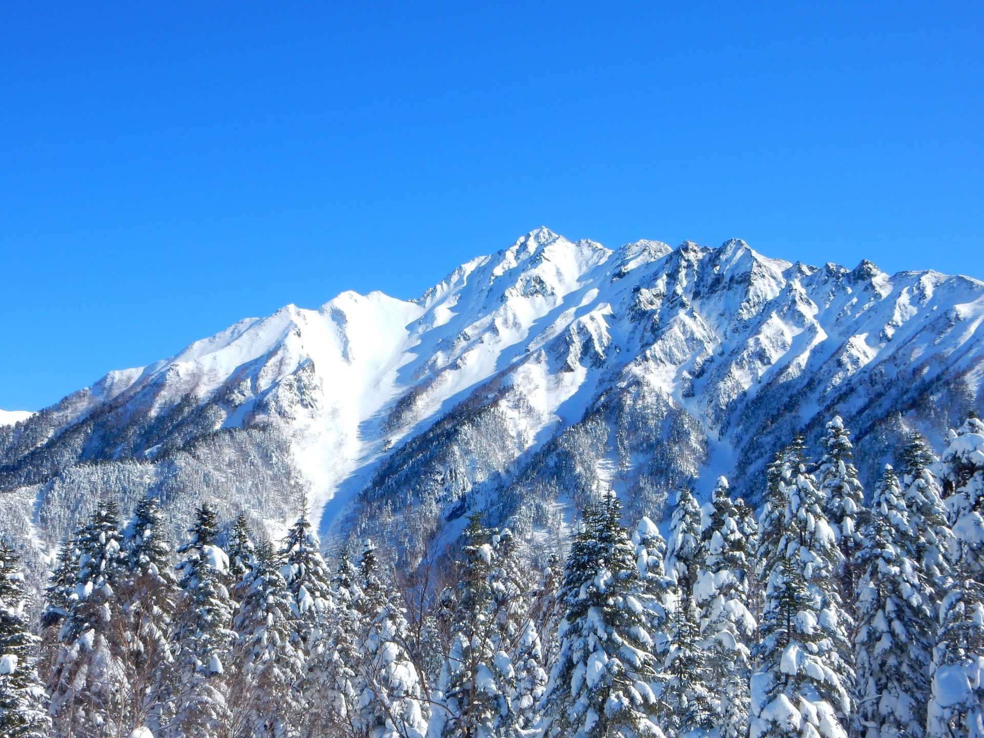 The Japan Alps in winter