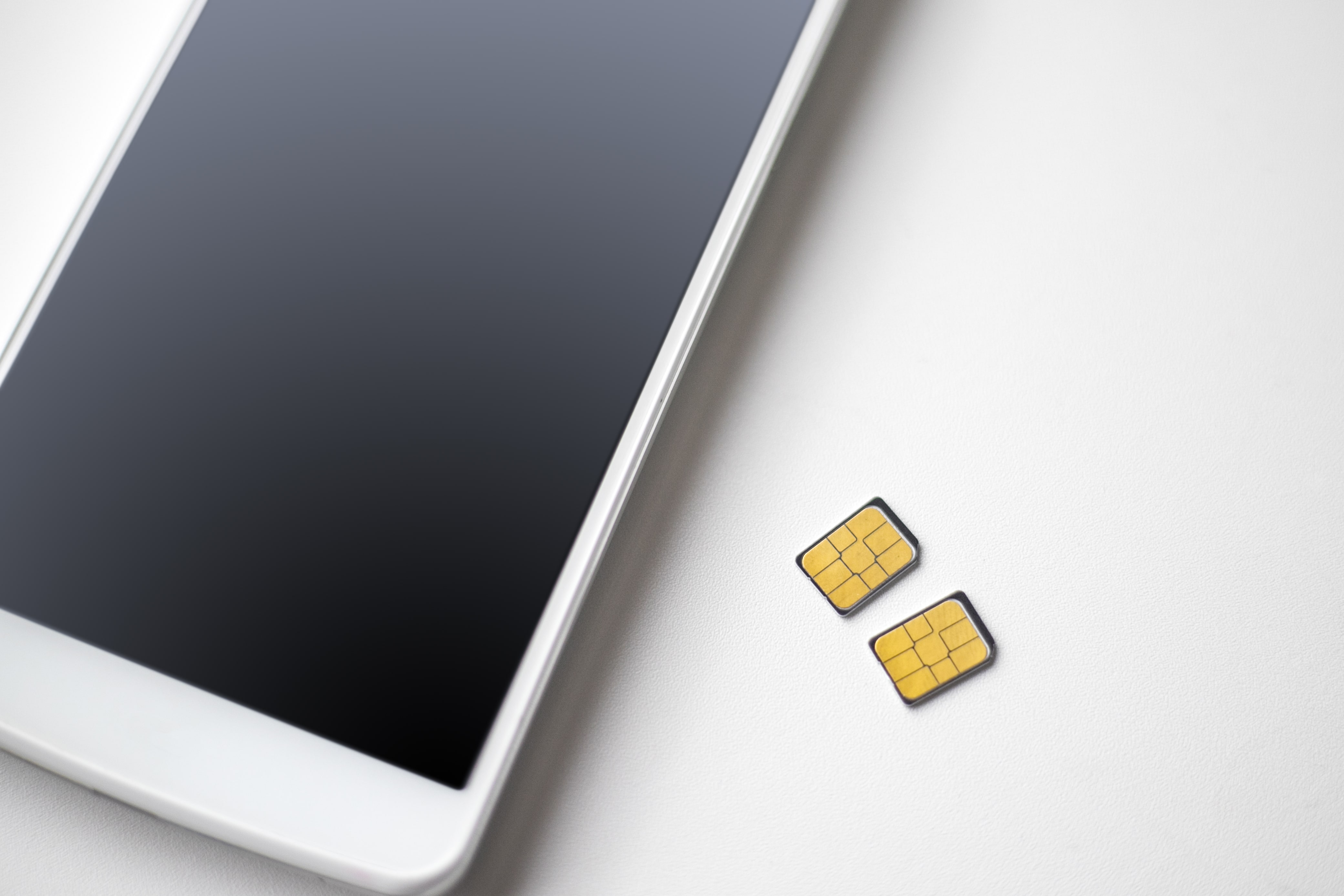 sim card and mobile phone