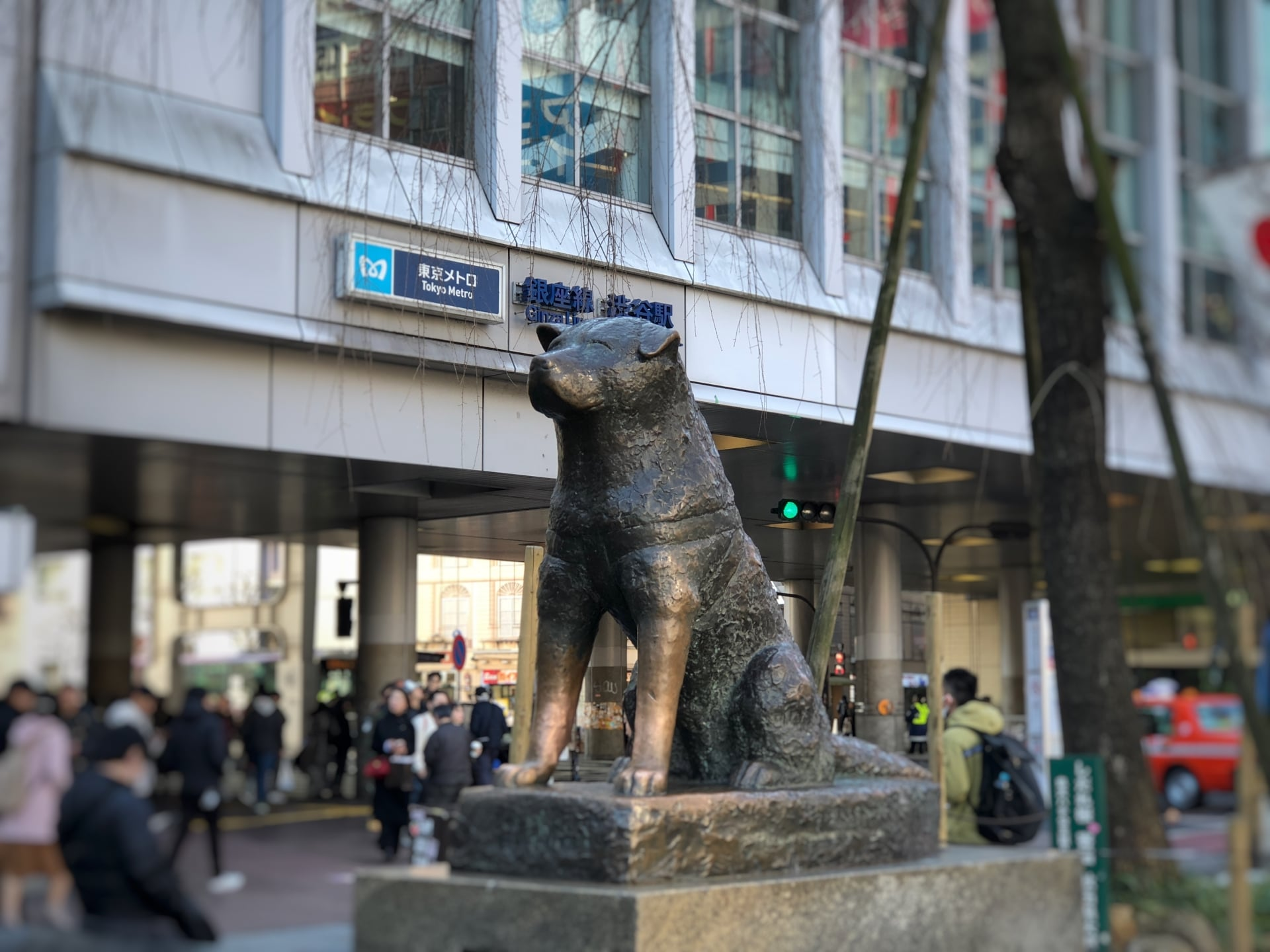 Hachiko Statue in front of Shibuya Station