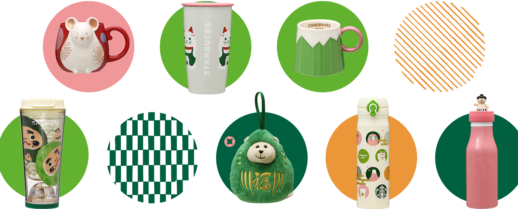Starbucks Japan's tumbler and mugs on New Year Collection