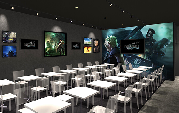 FINAL FANTASY VII REMAKE Cafe in Osaka