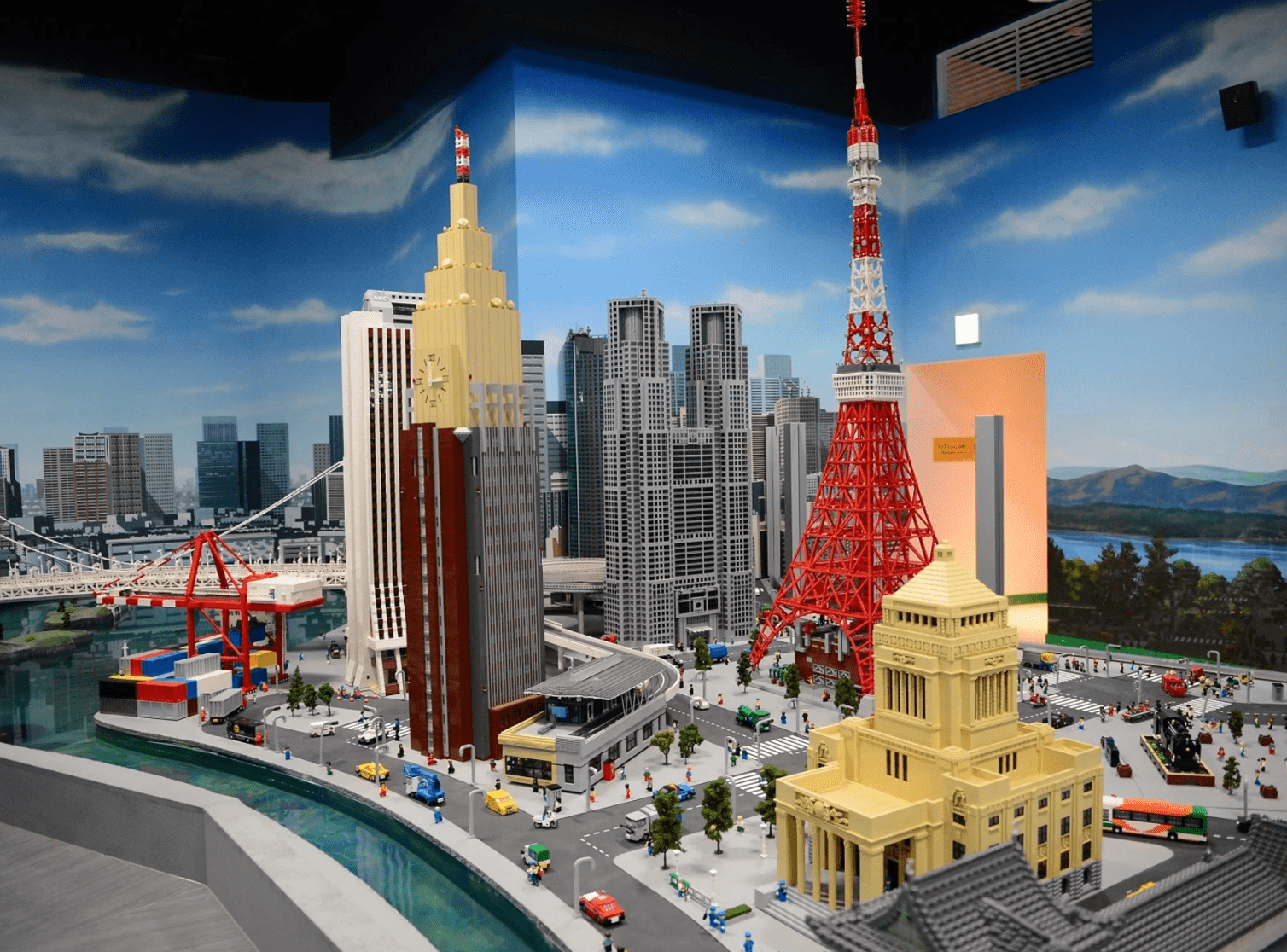 The town of Tokyo made with Lego blocks