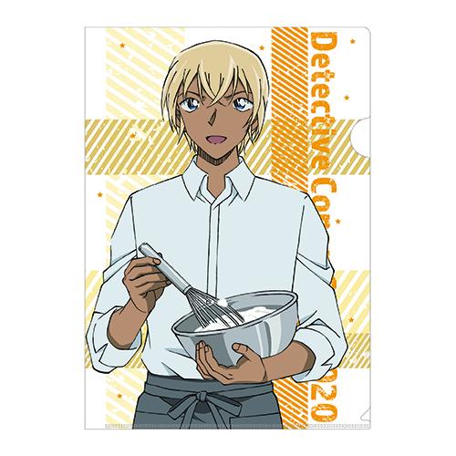 Plastic file folder sold at Detective Conan Cafe 2020