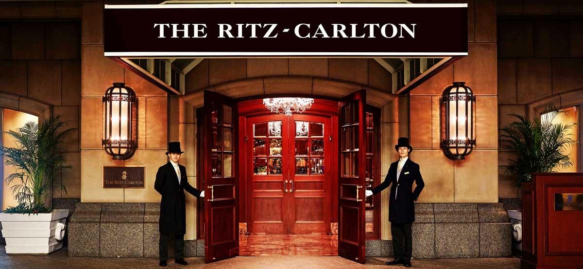 Pintu masuk Ritz Carlton Osaka