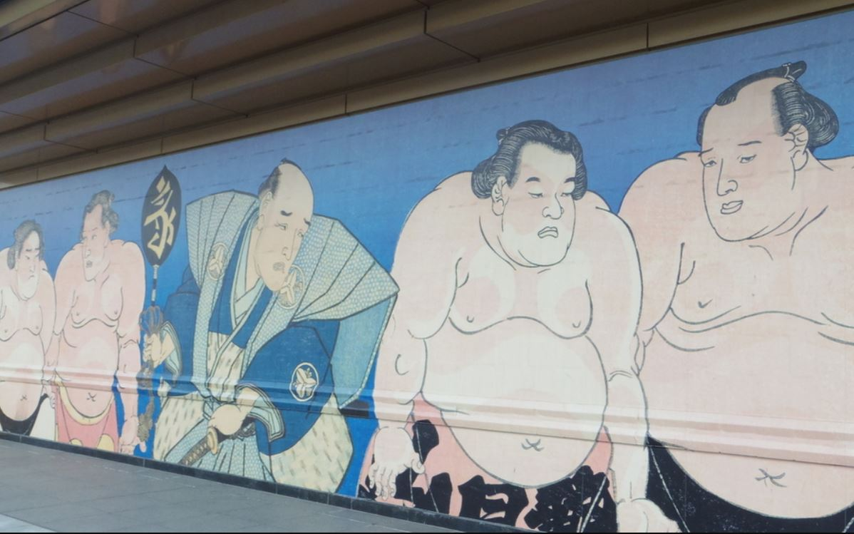 Wall painting of Sumo