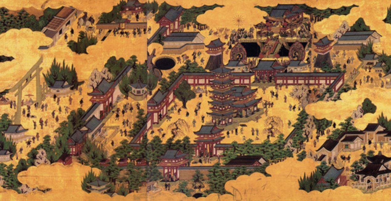 Shitennoji Temple drawing