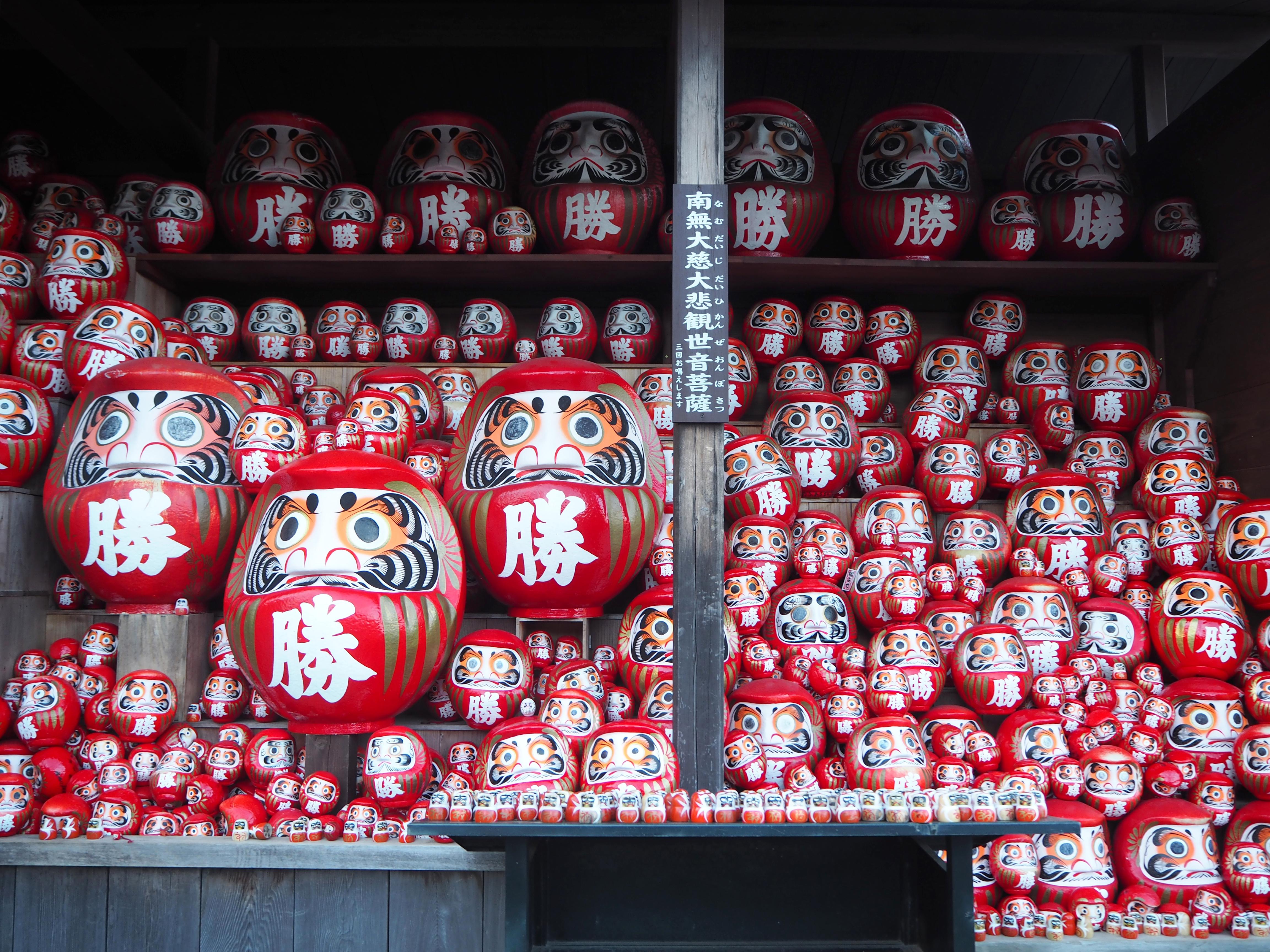 Đền Katsuo-ji, ngôi đền của darumas