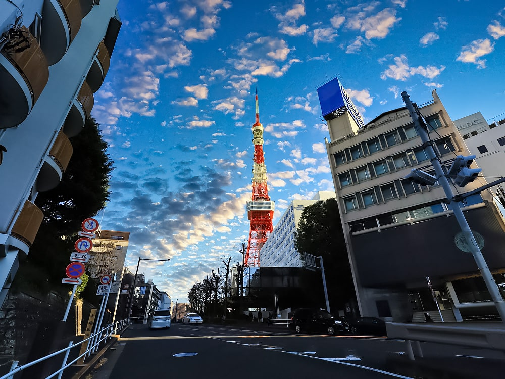 Tokyo Tower from the street