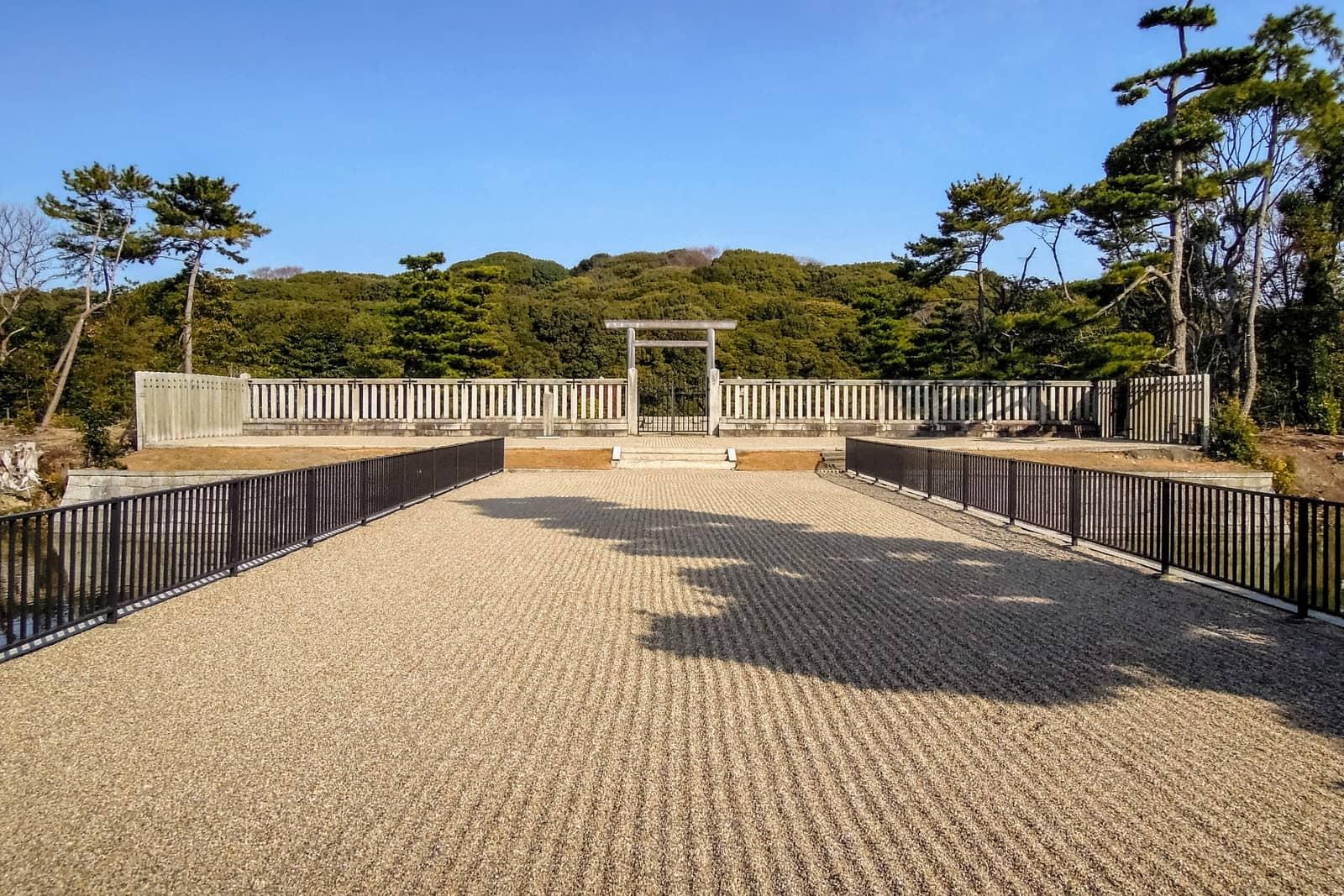 Entrance of Emperor Nintoku Tomb