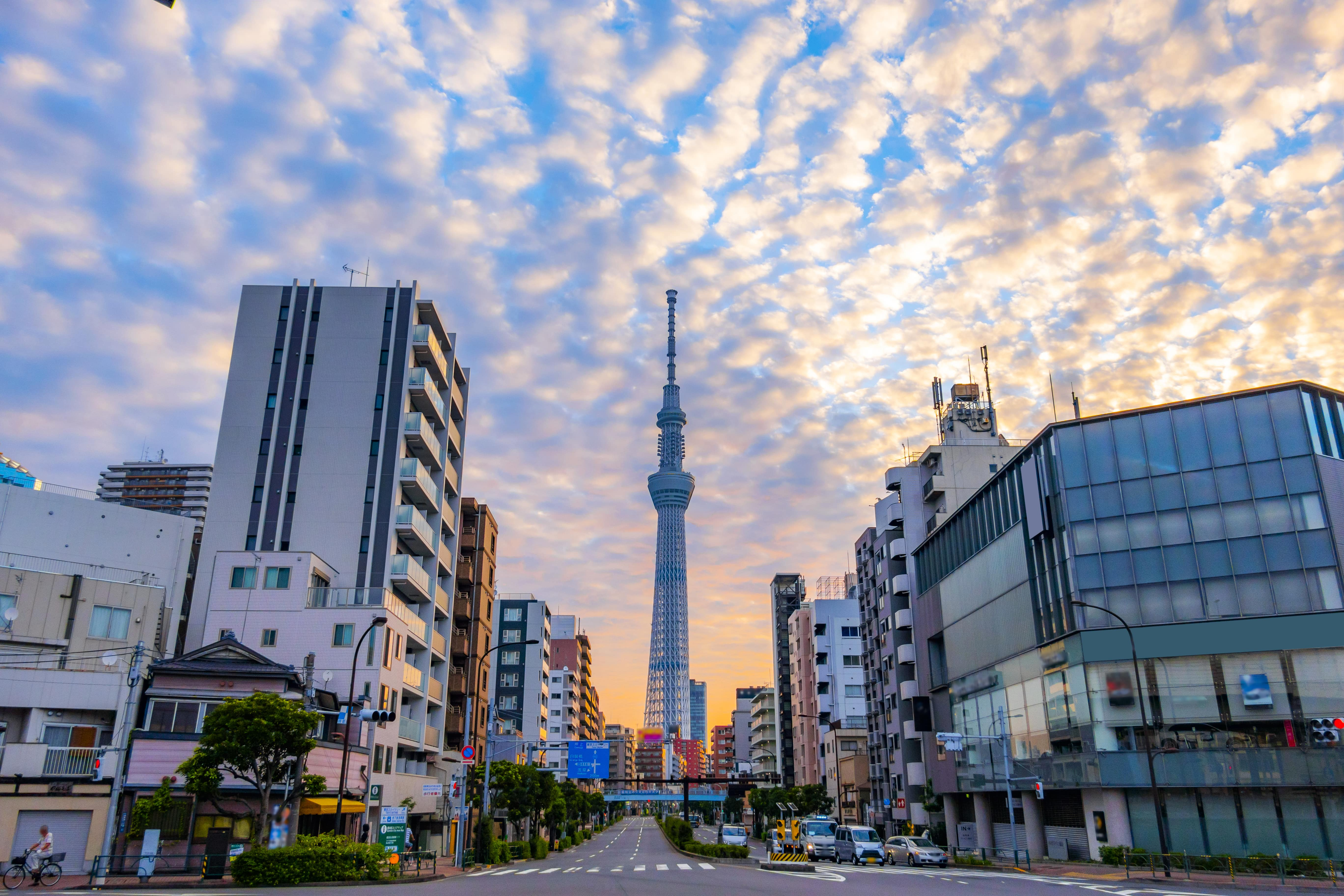 Tokyo Skytree from the front