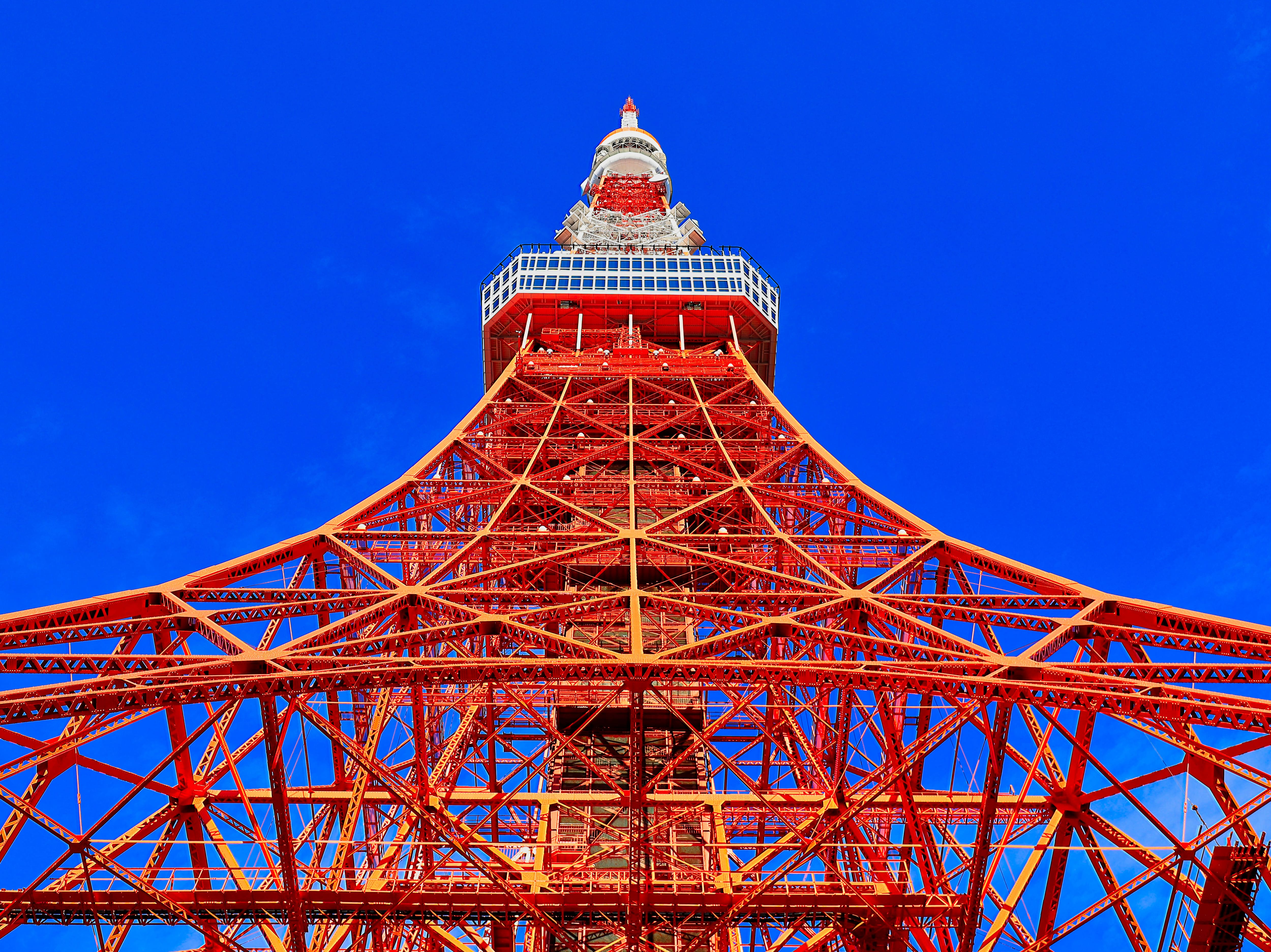 Tokyo Tower from bottom