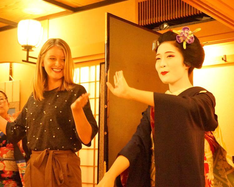 Geisha performance in Gion