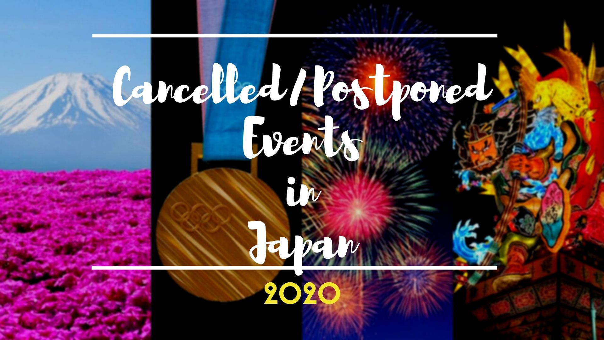 Cancalled Events in Japan in 2020