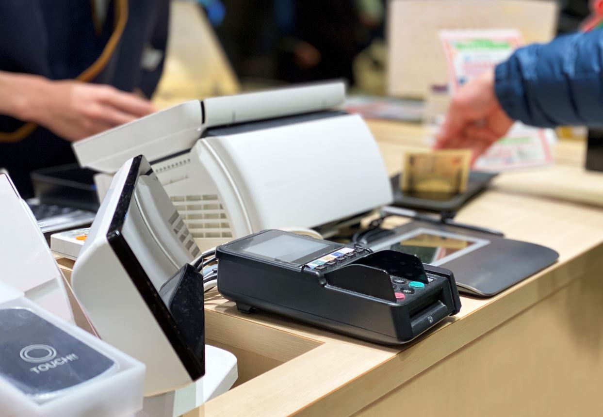 cash register at konbini