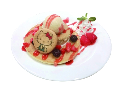 Hello Kitty's Strawberry Pancake