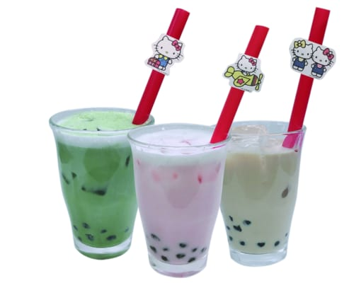 Hello Kitty Colorful Tapioca Drink: