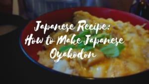 Japanese Recipe: How to Make Japanese Oyakodon