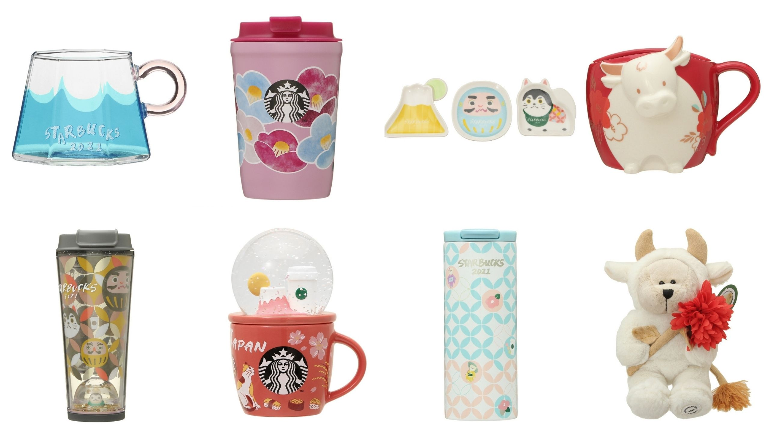 Starbucks Japan 2021 New Year Tumblers and Mugs
