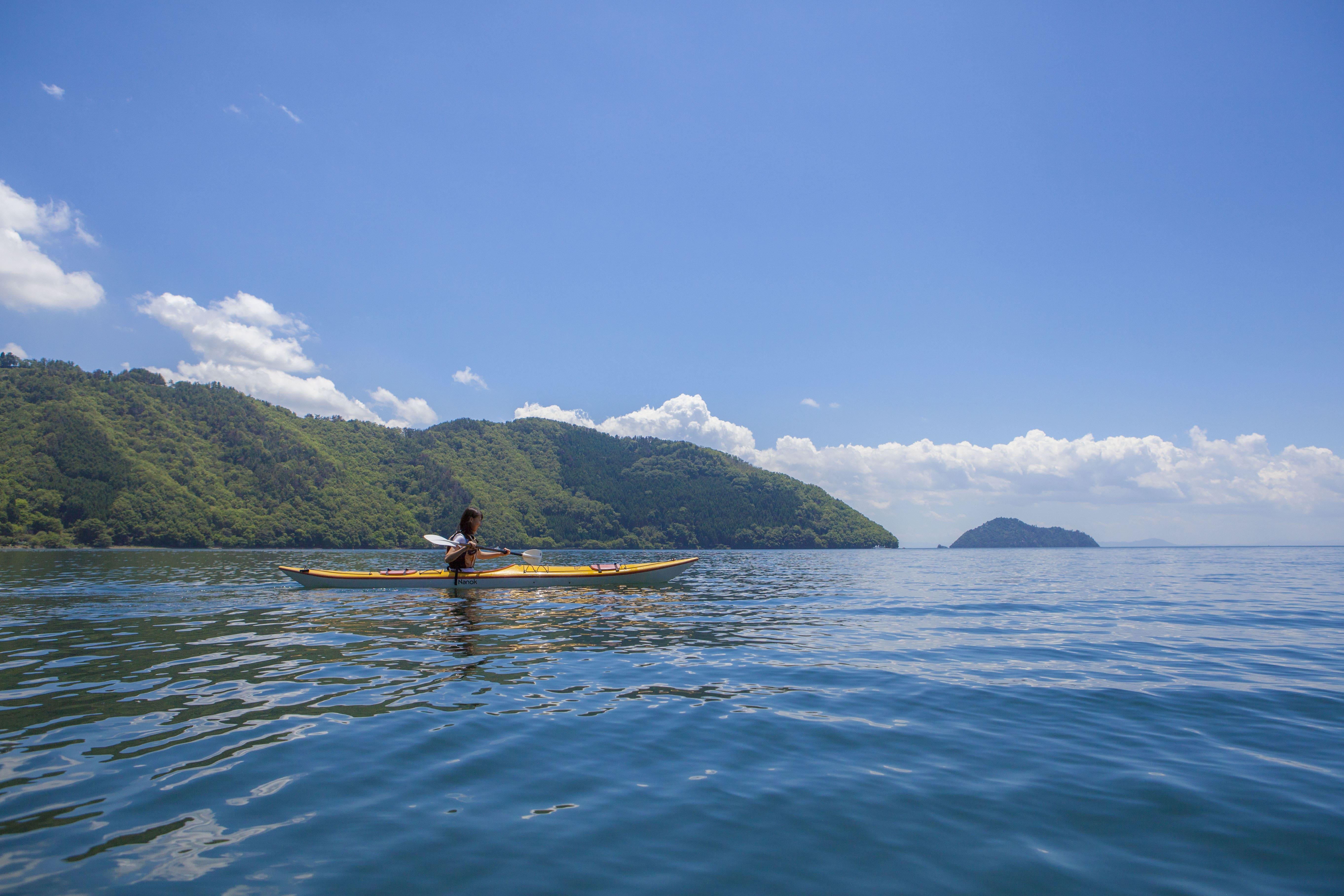 kayak at biwako