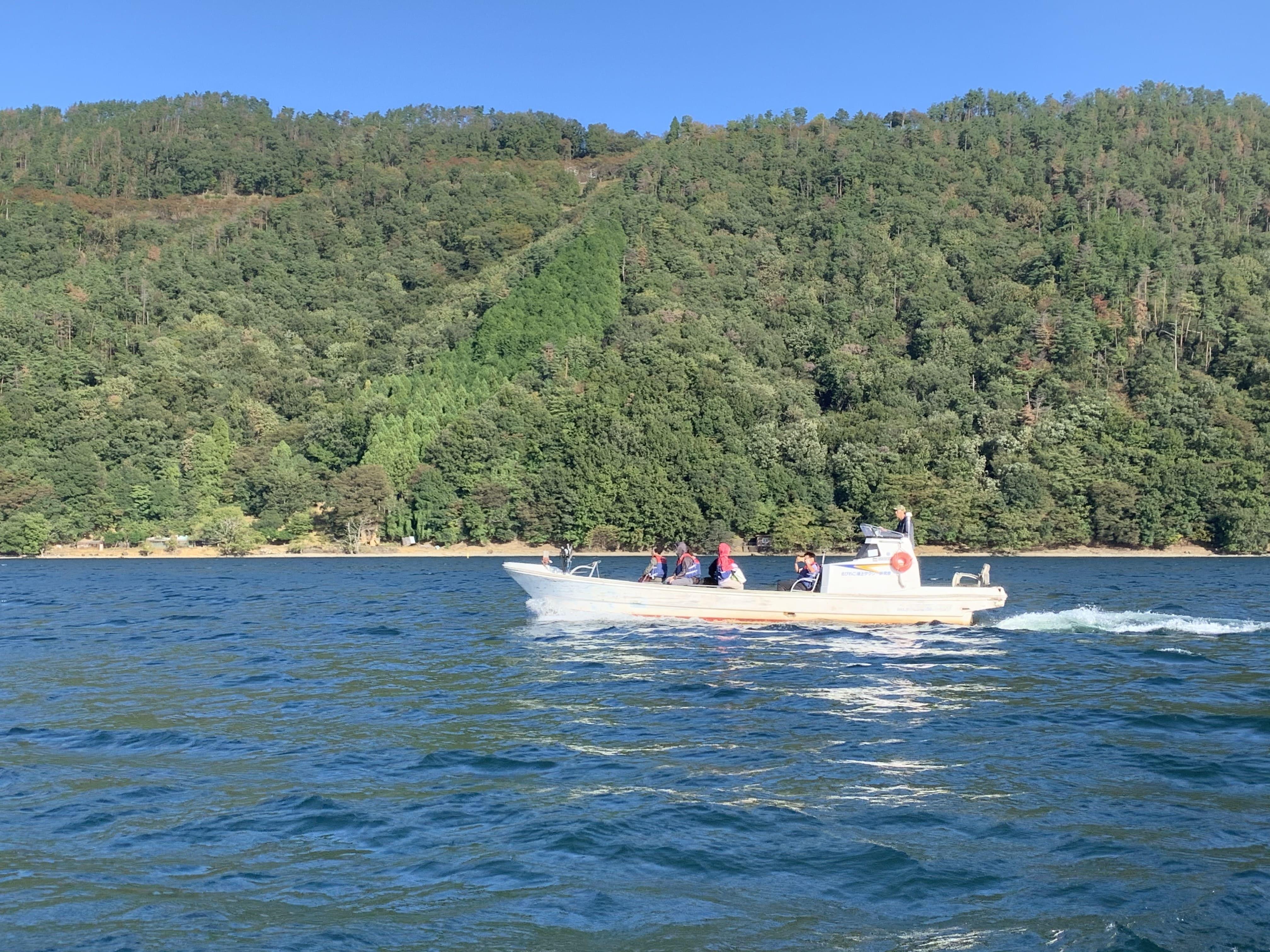lake cab at Lake Biwa