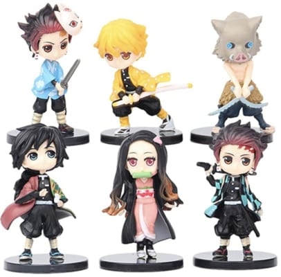 6pcs Demon Slayer Cake Topper