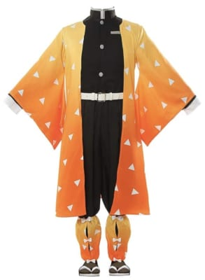 Demon Slayer: Kimetsu no Yaiba Zenitsu Cosplay Costume