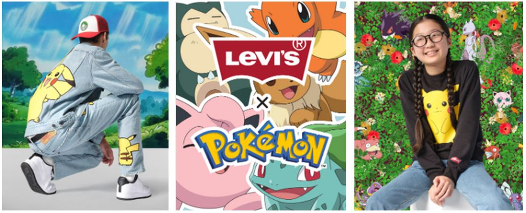 Levi's x Pokemon Collaboration 2021