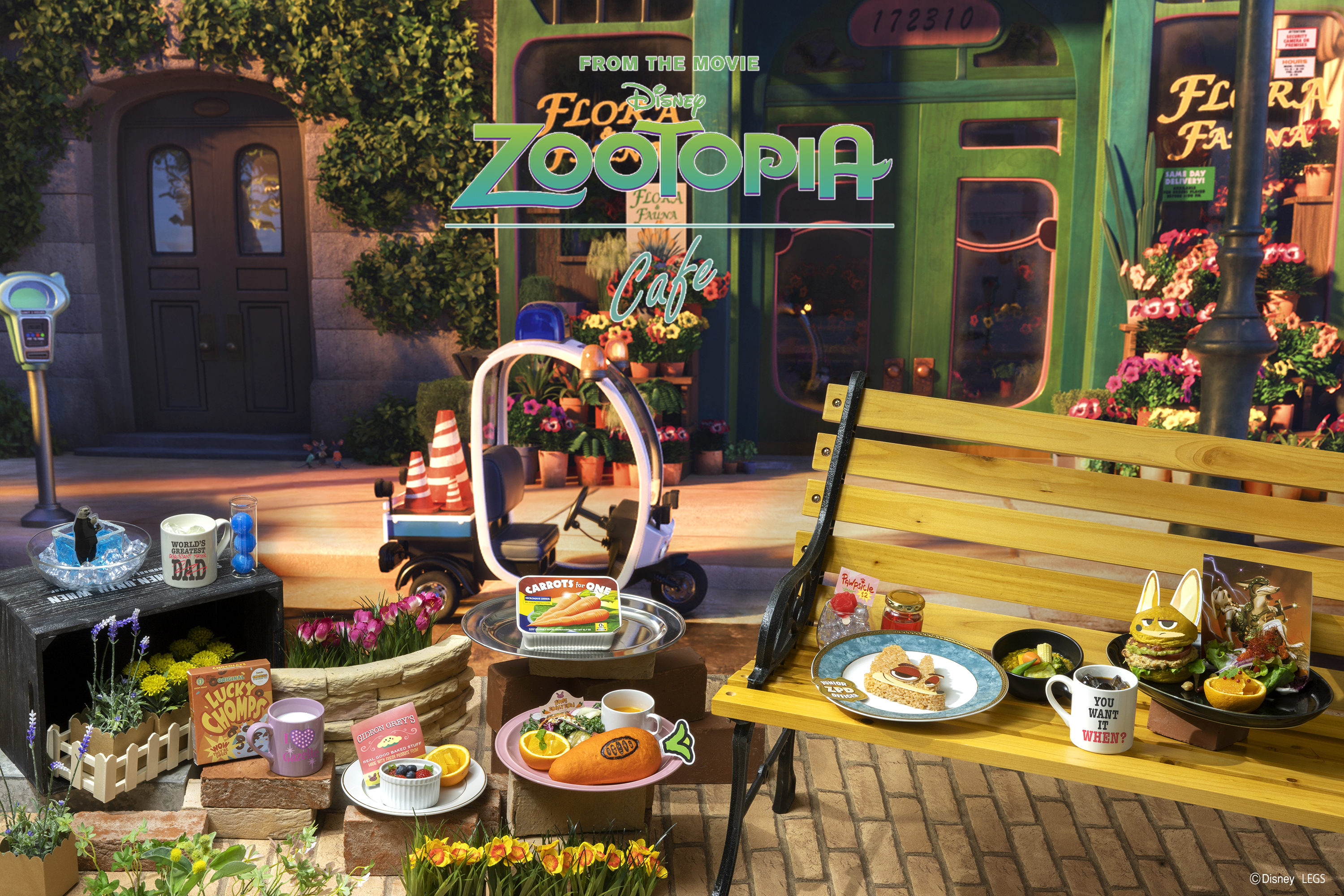 Zootopia Cafe in Japan 2021
