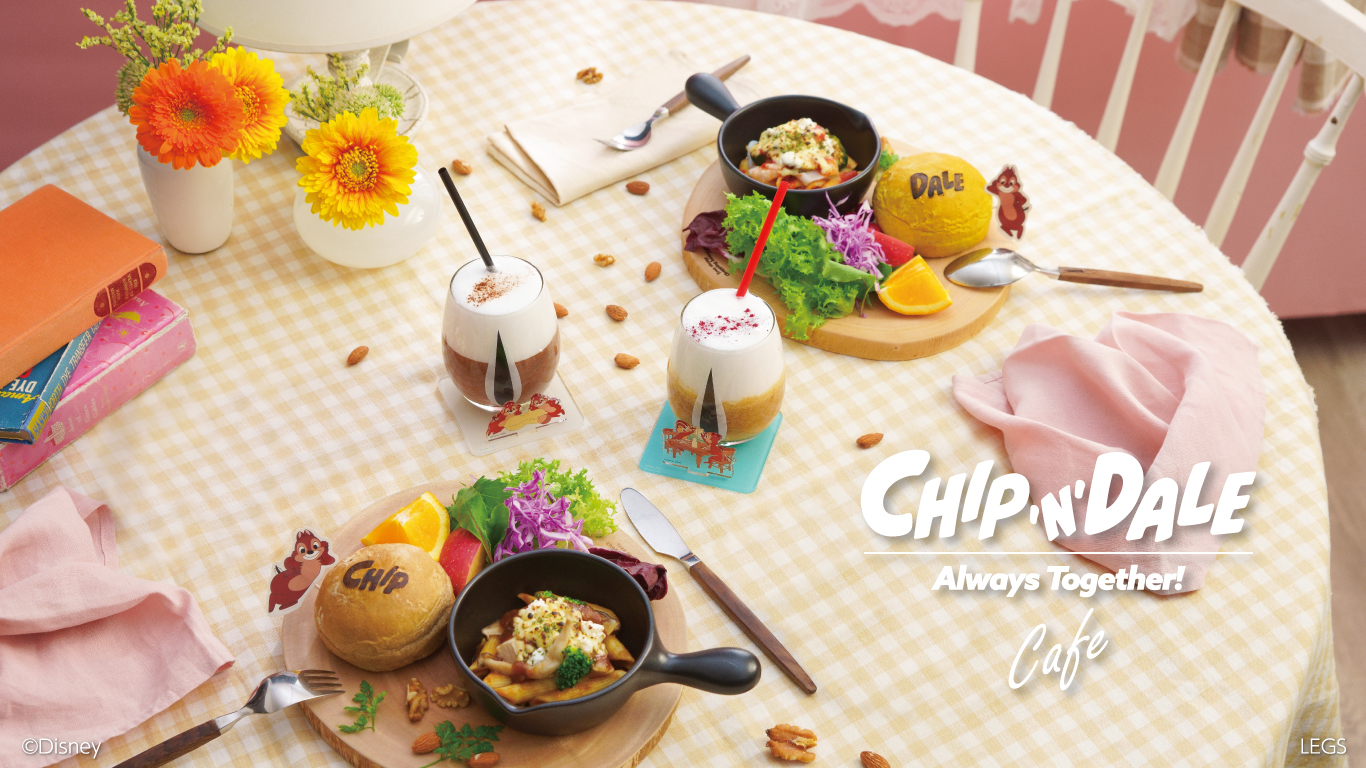 Chip and Dale Cafe in Japan2021